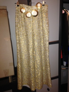 Vintage Gold Filigreed Pants