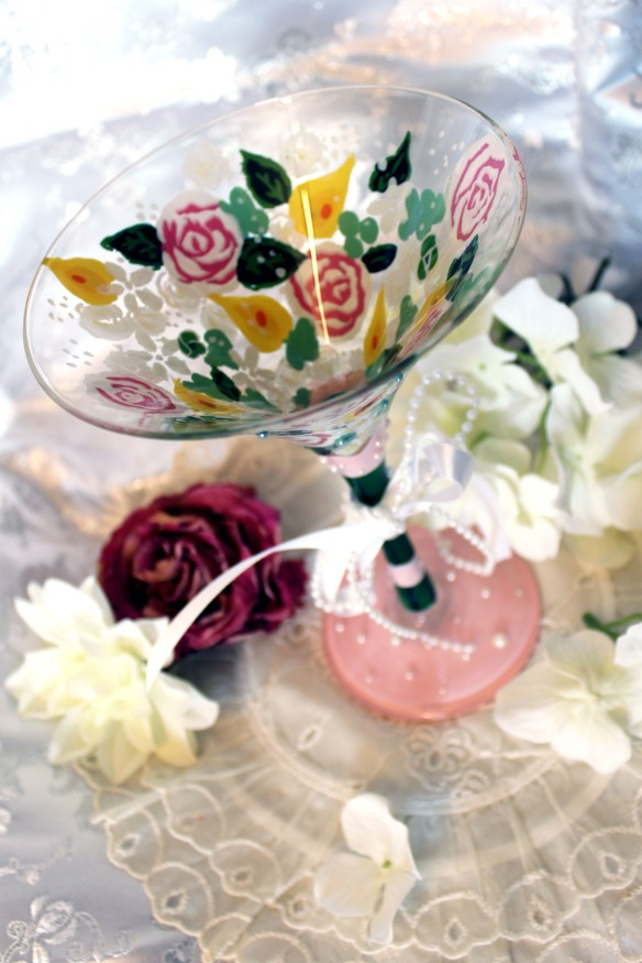 BridalBouquetMartiniGlass_1